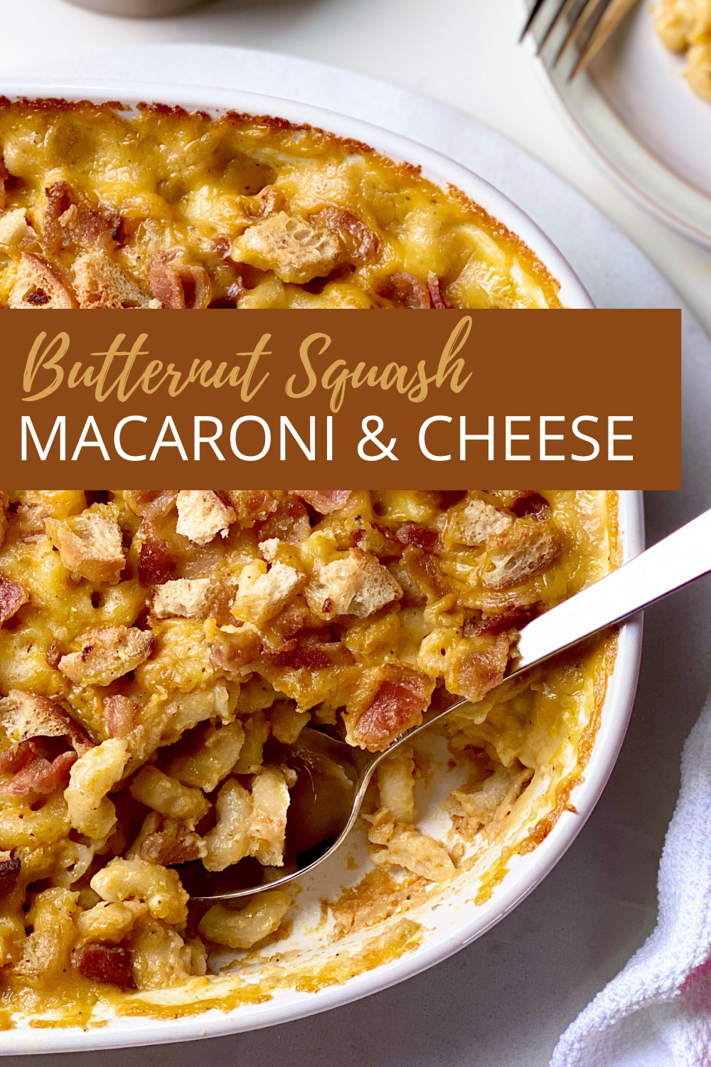 Butternut Squash Macaroni and Cheese Pinterest Image