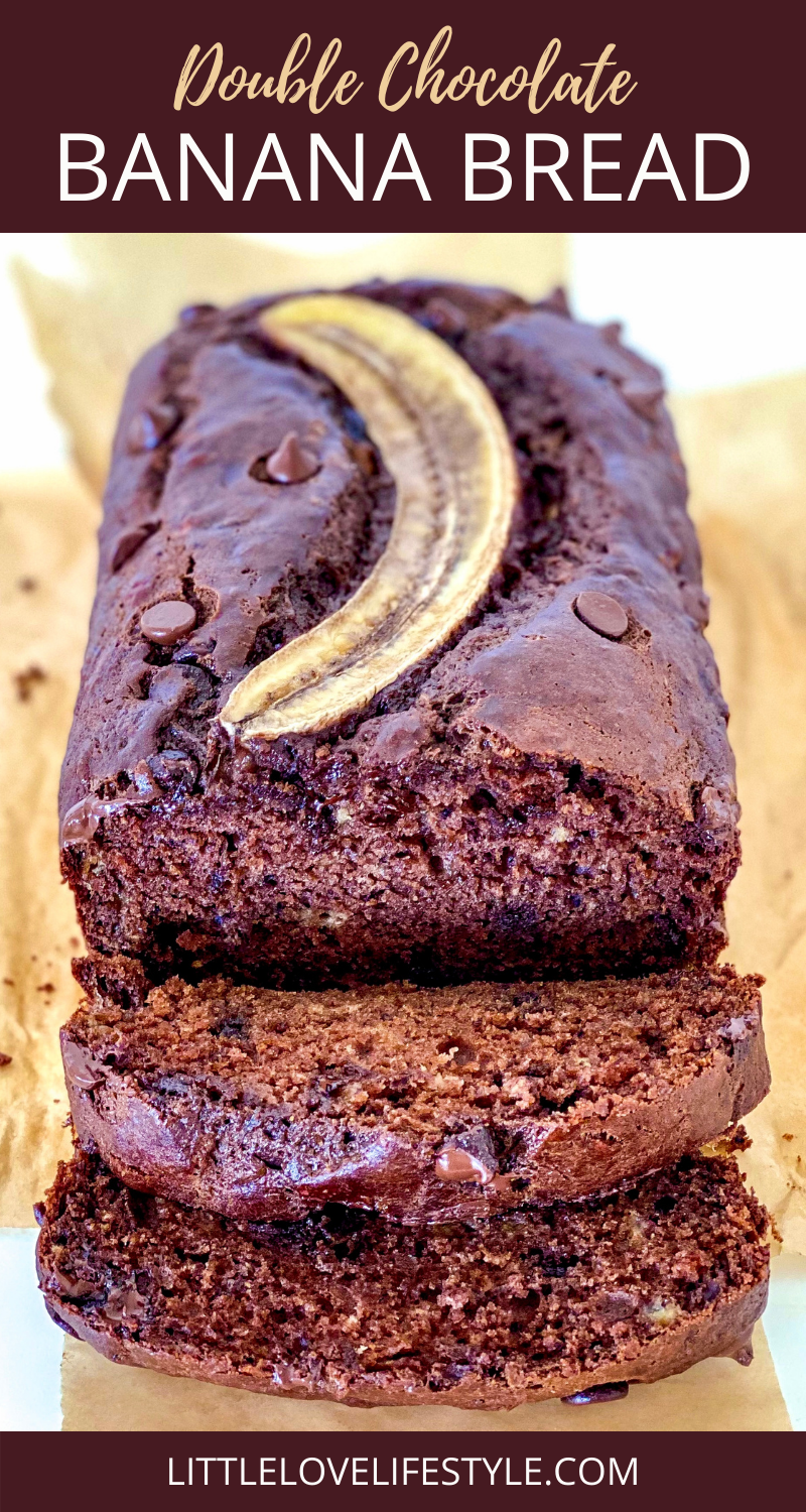 Double Chocolate Banana Bread Recipe For Pinterest