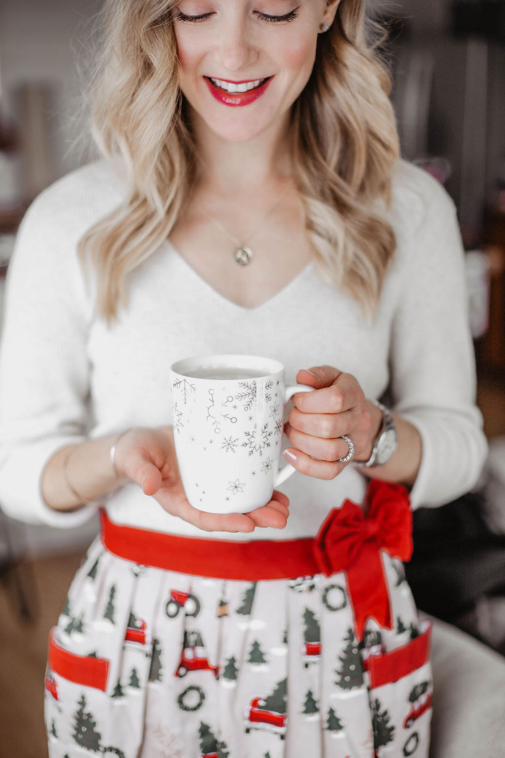 Hot Chocolate in A Festive Mug From Kitchen Stuff Plus